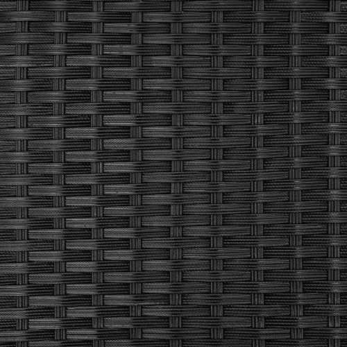 TecTake Poly Rattan 8+4+1 Sitzgruppe | 8 Stühle 4 Hocker 1 Tisch | inkl. Schutzhülle & Edelstahlschrauben | - Diverse Farben - (Schwarz | Nr. 402831) - 9