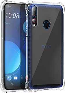 Osophter for HTC Desire 19S Case Clear Transparent Reinforced Corners TPU Shock-Absorption Flexible Cell Phone Cover for H...