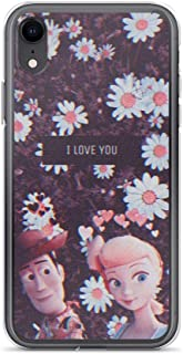TEEMT Compatible with iPhone 7 Plus/8 Plus Case Woody and Bo Peep Toys Friends American Sci-fi Animated Movie Pure Clear Phone Cases Cover