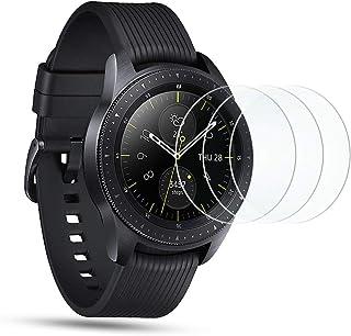 Omoton [Förpackning med 3] härdat glas skärmskydd för Samsung Galaxy Watch 42 mm, 9H hårdhet, reptålig, anti-olja, anti-bu...