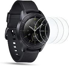 OMOTON [3 Stück] Panzerglasfolie für Samsung Galaxy Watch 42 mm, 9H Härte, Anti-Kratzen, Anti-Öl, Anti-Bläschen