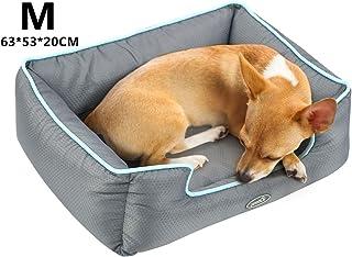 Pecute Cama de Perros y Gatos Alfombra para Mascotas Tela Impermeable Desmontable y Extraíble (M:63 * 53cm)