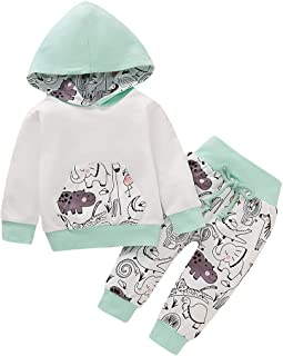 Toddler Baby Boy Clothes Newborn Fall Outfits Long Sleeve Hoodie Top + Pants + Headband 3Pcs Infant Clothing Set