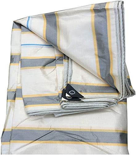 Qjifangfsh Bache imperméable Bache résistante PS 4 x 3 m baches , approprié pour Jardinage imperméable hamac de pêche Tente de Mouche de Pluie Empreinte bache Tente de Jardin (Taille   5  6M)