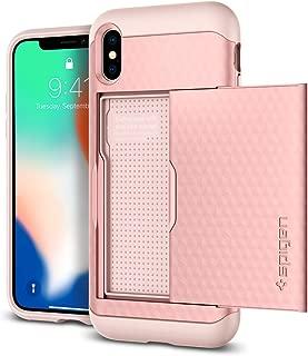 Capa para iPhone X Crystal Wallet, Spigen, Capa Anti-Impacto, Rosa, Spigen, Capa Dupla Proteção Anti-Impacto, Rose Gold