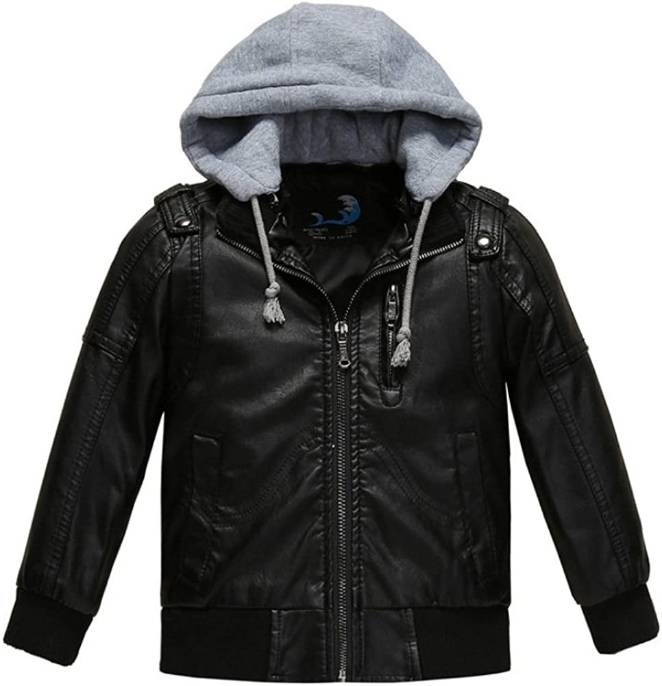 Stesti Winter Coat for Baby Hood online shopping Boy Leather Max 79% OFF Jacket