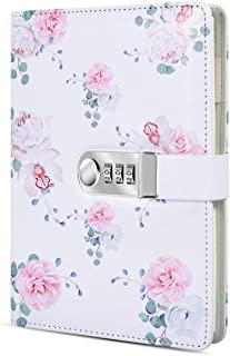 ARRLSDB A5 Creative Password Lock Diary PU Leather Journal with Combination Lock Digital Password Notebook Locking Journal Diary (Style 2)