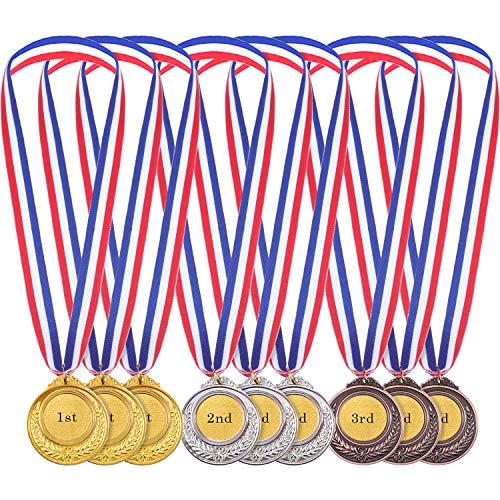 12 Pezzi Oro Argento Bronzo Stile Olimpico Medaglie del Vincitore del Metallo Oro Argento Bronzo Premi per Gioco e Festa