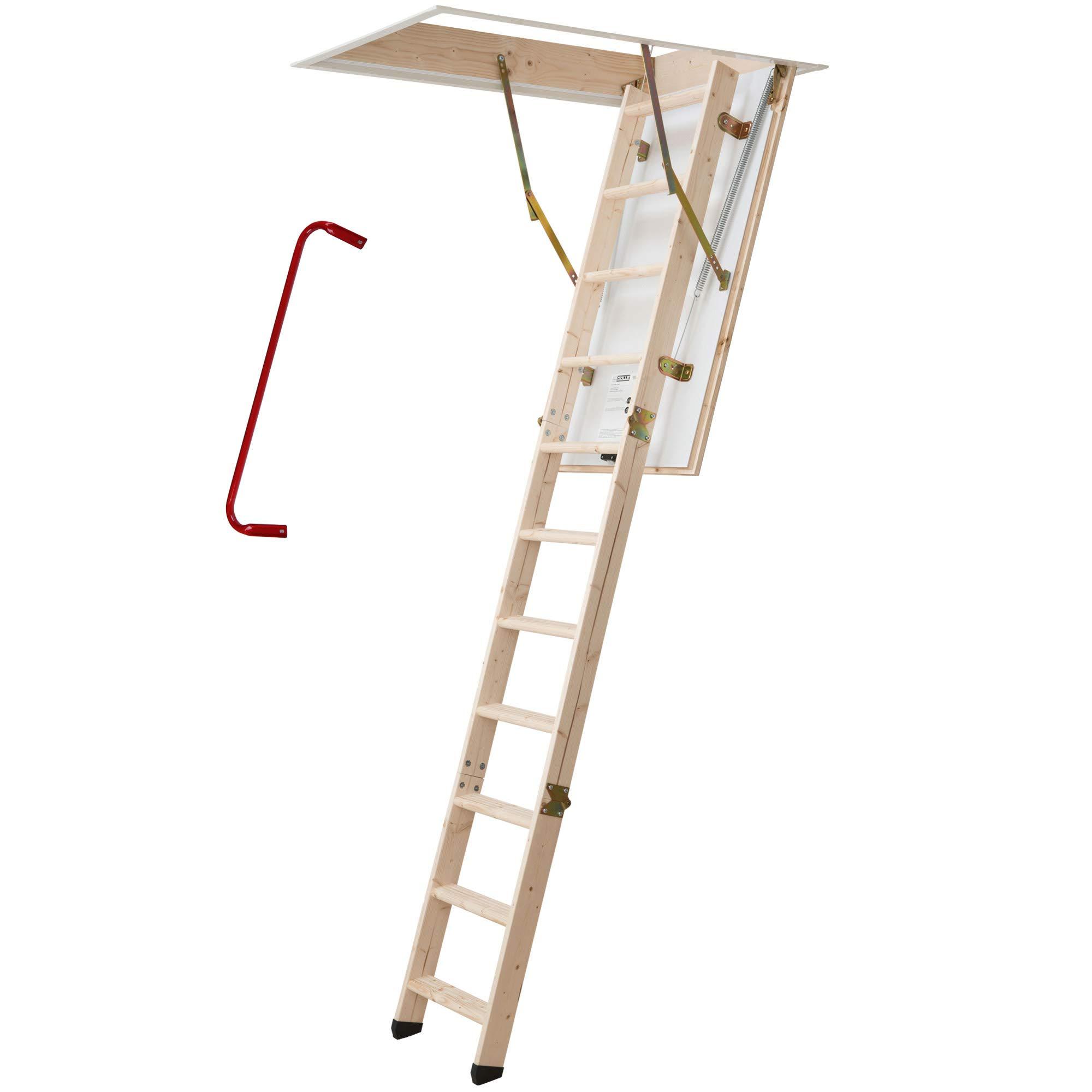 Dolle Escaleras, wärmegedämmt, 3 Juego de escalera notebook, espacio interior altura hasta 285 cm. U de