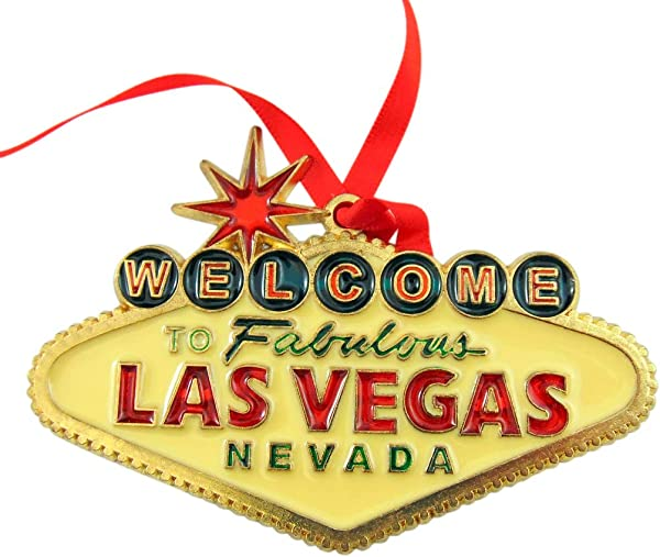 Las Vegas Sign Ornament Christmas Tree Decoration Gift Boxed