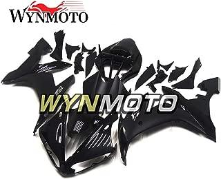 WYNMOTO Full Black Grey Decals Cowlings Fairing Kits For Yamaha R1 YZF R1 2004 2005 2006 Body Kit