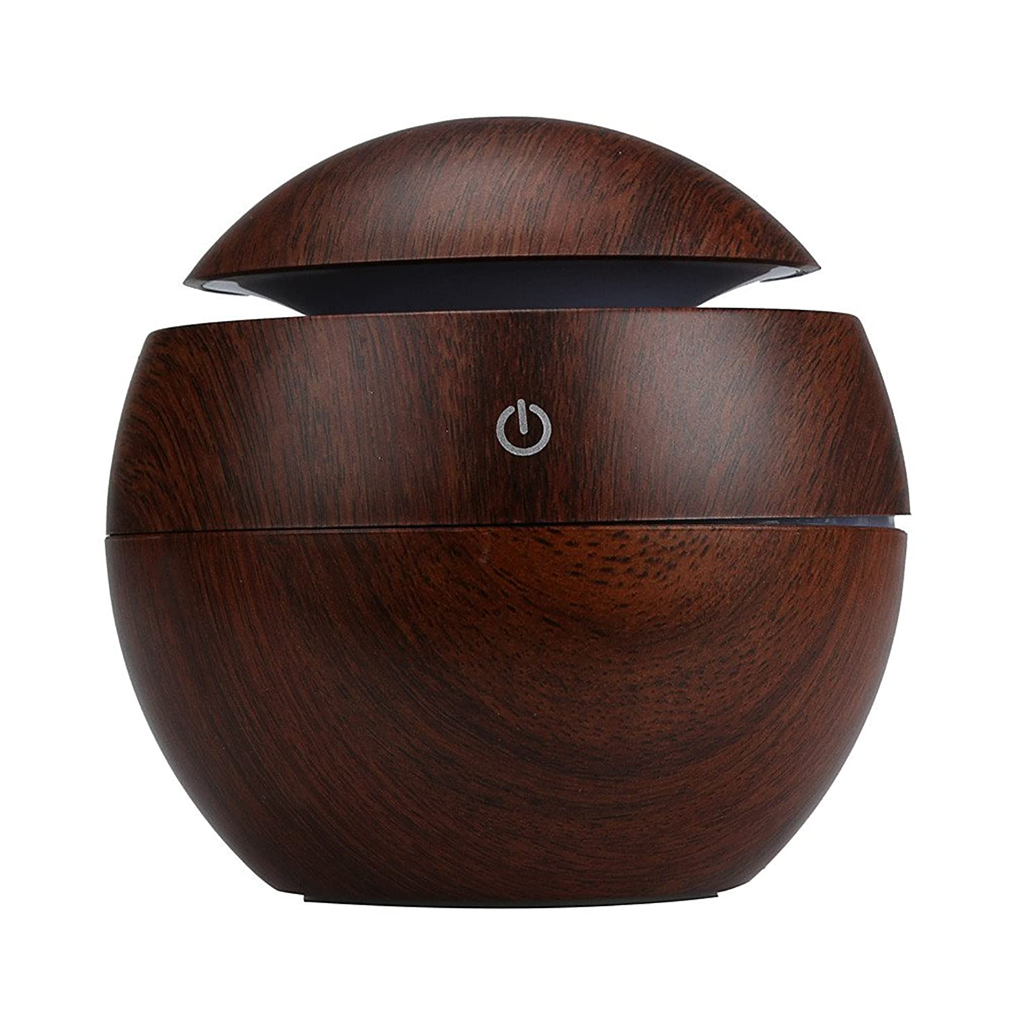 Aroma Humidifier Large,LED Aroma Ultrasonic Humidifier USB Essential Oil Diffuser Air Purifier,3d mirror wall stickers stars,Brown,Free Size