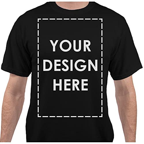 5c6ab1c3af6 Add Your Own Custom Text Name Personalized Message or Image Unisex T-Shirt