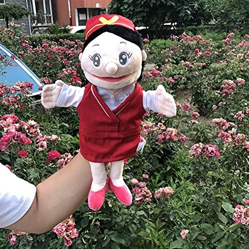 YSJJRGN Marionetas de Mano 30cm Una Familia Abierta Puppet New Kindergarten Show Mamá y papá Ventriloquist para contarle una Historia Puppet rol Play Hand Puppet Mano (Color : Gray)