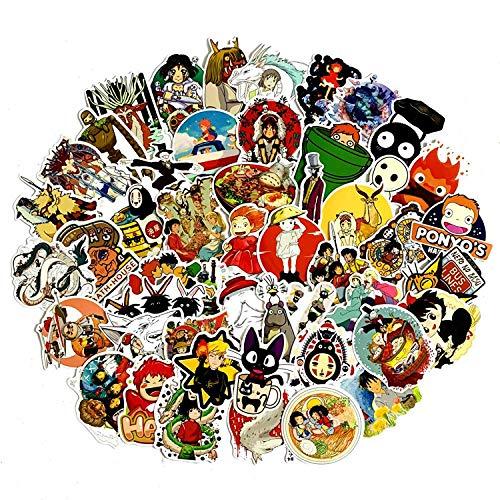 50 pegatinas de dibujos animados de Miyazaki Hayao para teléfono móvil, portátil, maleta, guitarra, monopatín, 50 unidades
