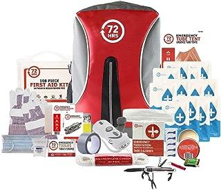 72HRS Earthquake Preparedness Kit, Emergency Kit, Survival Kit for 1 Person - 72 Hours Backpack Deluxe Kit