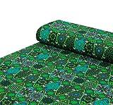 Nadeltraum Baumwoll - Jersey Stoff Ornamente grün -