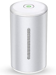 ミニ空気清浄機 オゾン発生器 小型脱臭機 冷蔵庫-10℃対応 オゾン脱臭 99.98%殺菌 食物鮮度保持 6畳適用 マイクロセンサー 定期的に消毒 花粉対策 タバコ 消臭 2つ風量調節 USB充電 コンパクトサイズ 携带 静音 冷蔵庫/ホーム/...