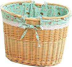 YAYADU Storage Basket Home Finishing Box Rattan Weave Carry Handle High Capacity Shopping Store Toy Snacks Clothes Newspap...