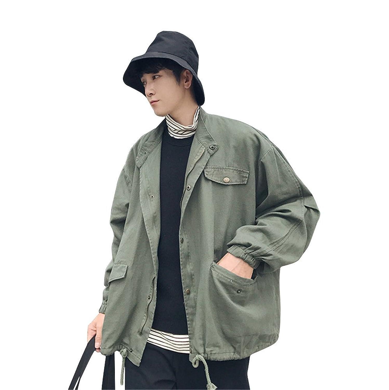[リュハイ] 秋 日系 メンズ 大きなサイズ ルーズ ツーリング ジャケット トレンド