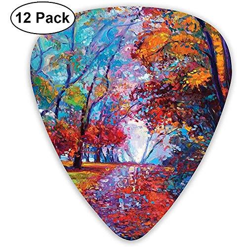 Gitaar Pick, kleurrijke Fairy verf van Park In herfst weergave grappig schattig bas Ukelele Mandoline voor thuis banket decoratie 12 Pack