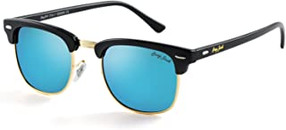 GREY JACK Classic Clubmaster Half Frame Sunglasses...