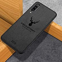 WPRIE Deer Pattern Art Cloth Surface PC + Soft Flex Silicone TPU Bumper Frame Shock Absorption Protective Cover Case Vivo S1 (Black)