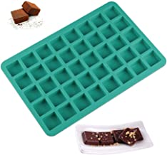 Mity rain 40-Cavity Square Caramel Candy Silicone Molds,Chocolate Truffles Mold,Whiskey Ice Cube Tray,Grid Fondant Mould,H...