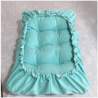 LRuilo Cojín rectangular para silla rectangular de taburetes de bar, cojín de asiento, cojín grueso para silla rectangular de piano, taburete bajo (30 x 70 cm, azul cielo)