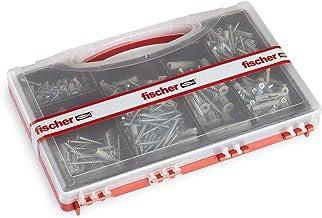 Fischer 71080 set SOS Casa 360 stuks pluggen en schroeven voor massieve en geperforeerde bakstenen, grijs, 360 stuks