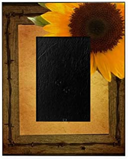 CafePress Sunflower Barnwood Country Decorative 8x10 Picture Frame
