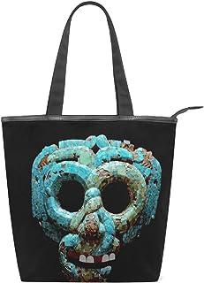 MALPLENA Quetzalcoatl Maske Schultertasche für Damen Arbeitstasche