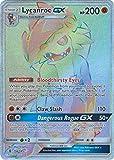 Pokémon Lycanroc-GX - 156/145 - Secret Rare - Sun & Moon: Guardians Rising