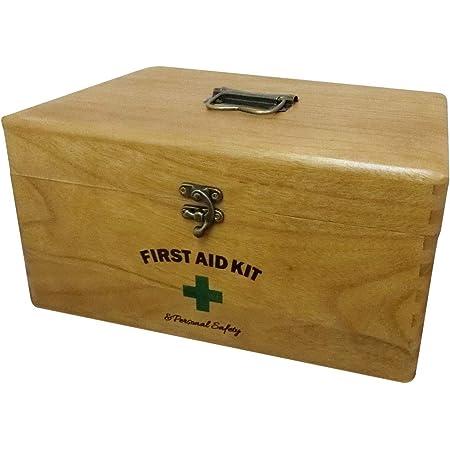 NaturalHouse 救急箱 間仕切り 付 大容量 幅 28 奥行 20 高さ 14.5 cm 軽量 700 g 天然木 桐 ウッド ラッカー 塗装 木製 完成品 薬箱 NH-K28