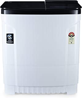 Godrej 8 Kg 5 Star Semi-Automatic Top Loading Washing Machine (WSEDGE ULT 80 5.0 DB2M CSBK, Crystal Black, Tri-Roto Scrub ...