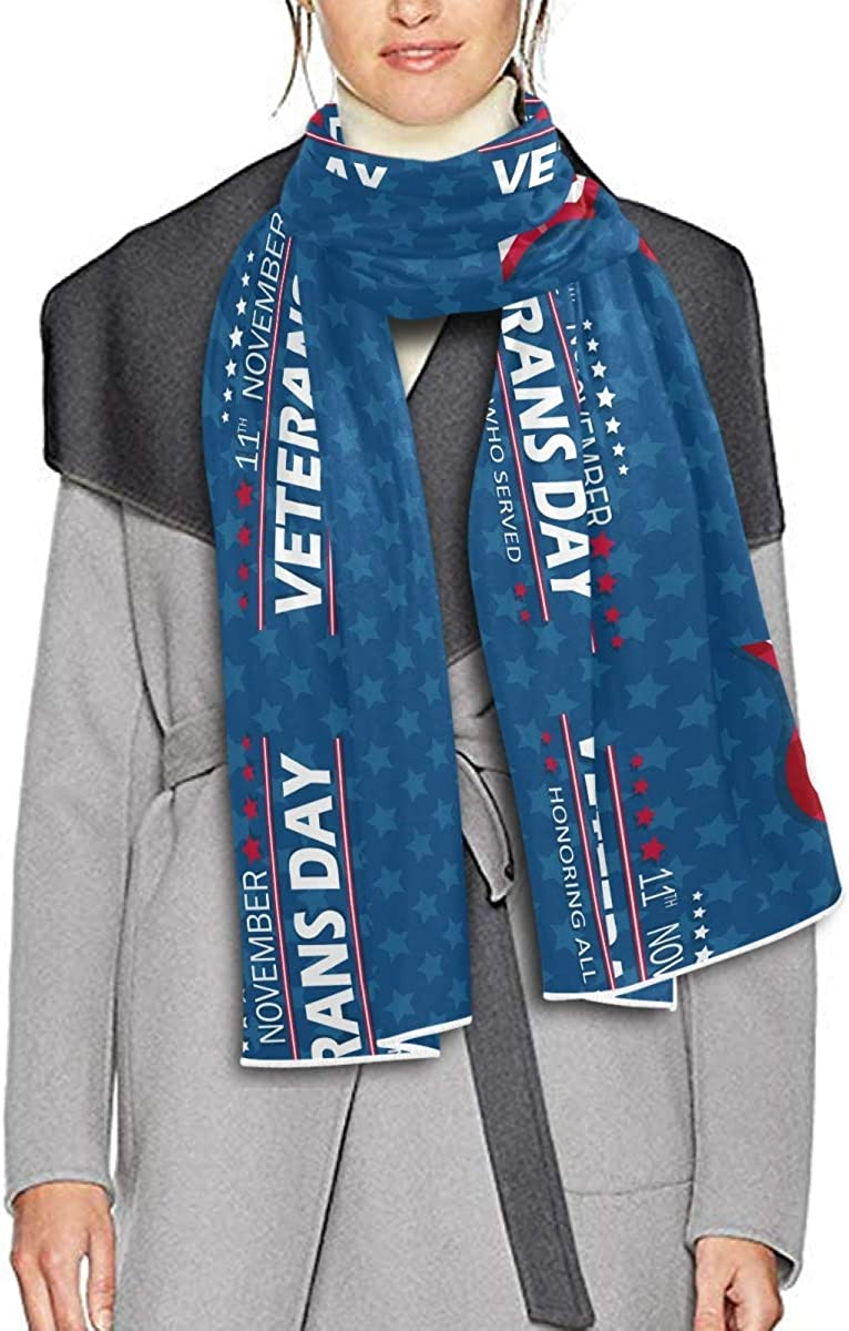 Scarf for Women and Men Happy Veteran Day Honor Blanket Shawl Scarves Wraps Soft Winter Large Scarves Lightweight