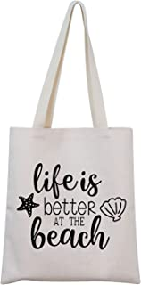 TSOTMO Beach Bag Beach Life Trip Gifts Life is Better at The Beach CosmeticBag Gift for Beach Girls Beach Themed Gift