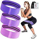 Haquno Bandas Elasticas Gluteos[Set de 3], Elásticas Musculacion para Fitness con 3...