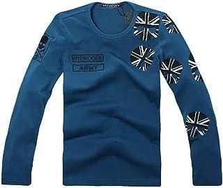 長袖 Tシャツ 刺繍 メンズ コットン 綿 100% プリント HYDROGEN 7521 [並行輸入品]