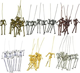 SM SunniMix 34 Pieces/Set Jewelry Making Charms Human Skeleton Body Pendant DIY Doll Necklace Crafts