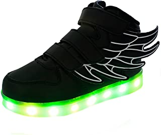 Genda 2Archer Baby Boys' Fashion Wings LED Light up Sneakers Flashing Shoes