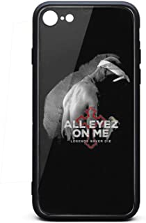 iPhone 7/iPhone 8 Case Tupac-Shakur-All-Eyez-on-Me-8- Shockproof Tempered Glass Back Cover Soft TPU Bumper Shell for iPhone 7/iPhone 8