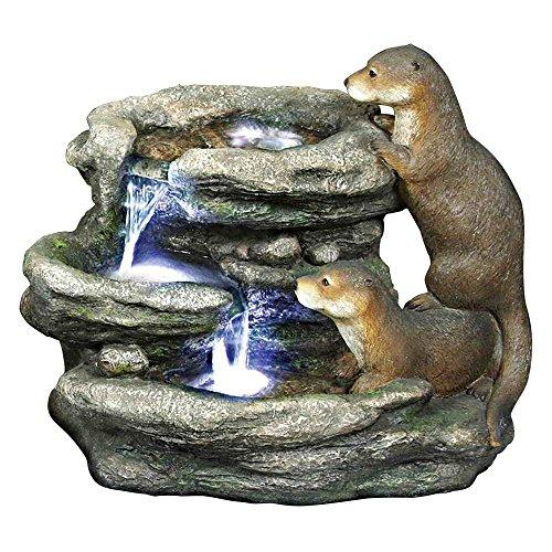 Bright Waters Otters Garden Outdoor Fountain Sculpture