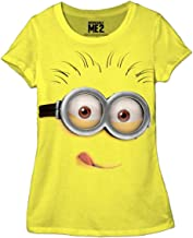 Despicable Me Silly Minion Face Juniors Yellow T-Shirt