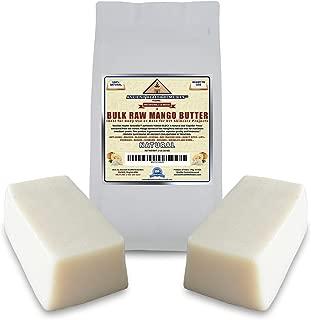 Organic Unrefined Raw MANGO BUTTER 2 LB (32 oz) BLOCKS Best Price Highest Quality Bulk, Light Mango Aroma, Non-Greasy Base for Beauty, Skin Moisturizing, DIY Base for Body Butter & Soap Making (India)
