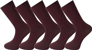 My Socks, 5 pares de calcetines Mysocks® para hombre. De color burdeos y hechos de algodón peinado muy fino