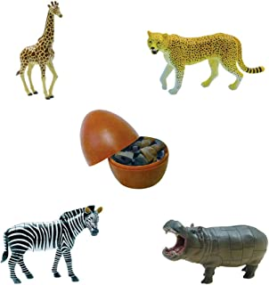 Assorted 4pcs/set of 2nd Generation 3d Wild Animal Puzzles DIY Zebra Giraffe Cheetah Hippo Models Kids Educational Toy 3966