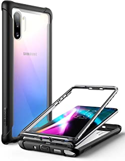 i-Blason Ares Series Case Designed for Galaxy Note 10 (2019 Release), Rugged Clear Bumper Case Without Built-in Screen Protector (Black)