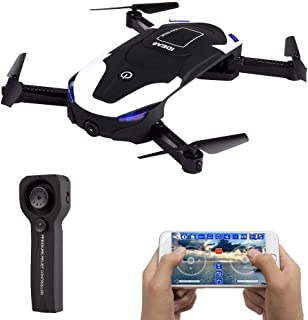 Le-idea IDEA8 Stylish Funny FPV RC Drone with 720P HD WI-FI Camera Live Video, Foldable Selfie Pocket Drone for Kid & Beginner, Two Cameras,Two Alititude Holds,Follow Me,Gravity Sensor