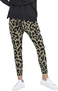 065bbbf57235 Mujer Pantalones De Tiempo Libre Otoño Vintage Fashion Leopardo Largo  Pantalon Elegantes Elastische Taille Básico Slim